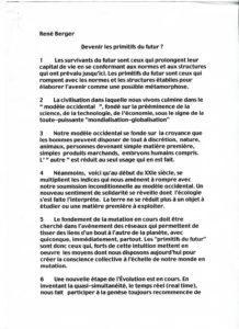 VAF 2001 Berger devenir primitifs Futur PP525 1815