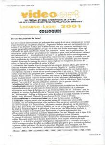 VAF 2001 Colloque Devenir primitif futur Texte PP525 1815